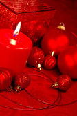 Red Glitter Christmas — Stockfoto