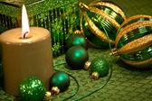 Green Glitter Christmas — Stock Photo