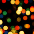 Stock Photo: Christmas Tree Lights Bokeh
