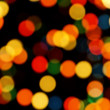 Multi-colored Christmas Tree Lights Bokeh — Stock Photo