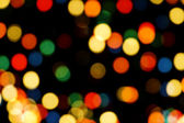 Christmas Tree Lights Bokeh — Stock Photo
