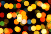 Christmas Tree Light Bokeh — Stock Photo