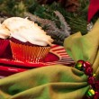 Christmas Dinner Table with Dessert — Stockfoto