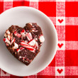 Candy Cane Fudge — Stock Photo