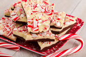 Corteza de menta chocolate tradicional fiesta — Foto de Stock