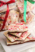 Traditional Holiday Chocolate Peppermint Bark — Stock Photo