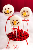 Snowmen and Reindeer Cake Pops — Stock Photo