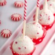 Stock Photo: Brownie Peppermint Cake Pops