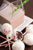 Brownie Peppermint Cake Pops — Stock Photo