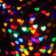 Heart Shaped Bokeh Holiday Lights Background — Stock Photo #37194871