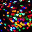 Heart Shaped Bokeh Holiday Lights Background — Stock Photo #37194875