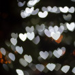 Heart Shaped Bokeh Holiday Lights Background — Stock Photo #37194923