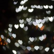 Heart Shaped Bokeh Holiday Lights Background — Stock Photo