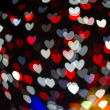 Heart Shaped Bokeh Holiday Lights Background — Stock Photo #37194957