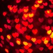 Heart Shaped Bokeh Holiday Lights Background — Stock Photo #37194959