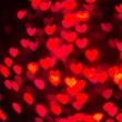 Heart Shaped Bokeh Holiday Lights Background — Stock Photo #37194967