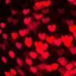 Heart Shaped Bokeh Holiday Lights Background — Stock Photo #37195043