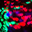 Heart Shaped Bokeh Holiday Lights Background — Stock Photo #37195145