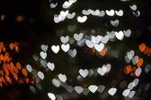 Heart Shaped Bokeh Holiday Lights Background — Stock Photo