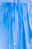 Ice Castles icicles and ice formations — Stock Photo