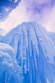 Ice Castles icicles and ice formations — Foto de Stock