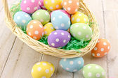 Easter Eggs and Baskets — Stockfoto