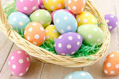 Easter Eggs and Baskets — Stok fotoğraf