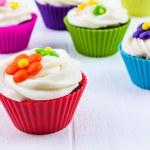Spring Flower Cupcakes — Stock Photo #42150841