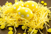 Easter Eggs and Baskets — Stock Photo