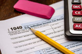 Filing Taxes and Tax Forms — Stock Photo