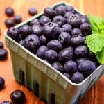 Fresh picked organic blueberries — Stock Photo #42942935