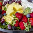Assorted Fruit and Cheese Tray — Stock Photo #44997075
