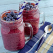 Blueberry and Blackberry smoothie shakes — Stock Photo #45052019