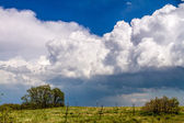 Spring storm front of  cumulonimbus clouds — Stock Photo