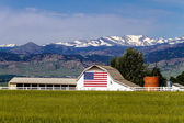 American Flag Barn in Boulder, CO — 图库照片