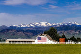 American Flag Barn in Boulder, CO — Stock Photo