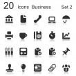 20-icons-business-black-set-2 — Stock Vector