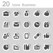 Business 20 sticker icons — Stock Vector