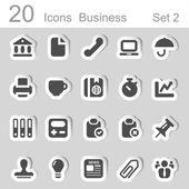 Business 20 sticker icons set 2 — Wektor stockowy