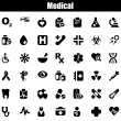 Medical iconset black — Stock Vector