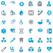 Stock Vector: Medical iconset blue & gray