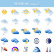Stock Vector: Weather iconset