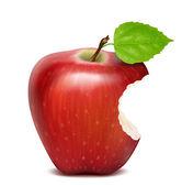 Bitten red apple — Stock Vector