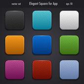 Elegant square for app — Cтоковый вектор