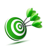 Green darts — Stock Vector