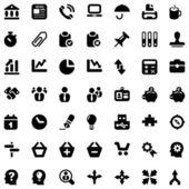 Iconset businnes work black — Stock Vector