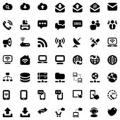Iconset communication black — Stock vektor