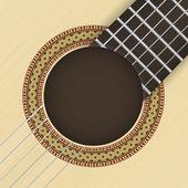 Guitar background — Stock Vector