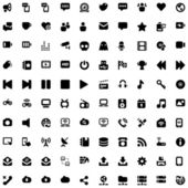 Media & communication iconset black — Stock Vector