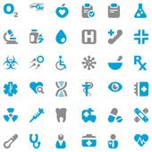 Medical iconset blue & gray — Stock Vector